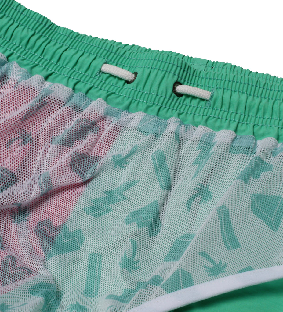 "Perfect 10 Trunk (16"") - Hot Pink/Green"
