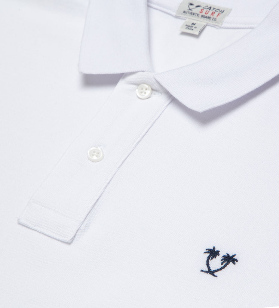 Lyon II S/S Polo - White/Navy