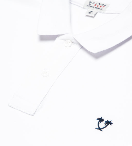 Lyon II L/S Polo - White/Navy