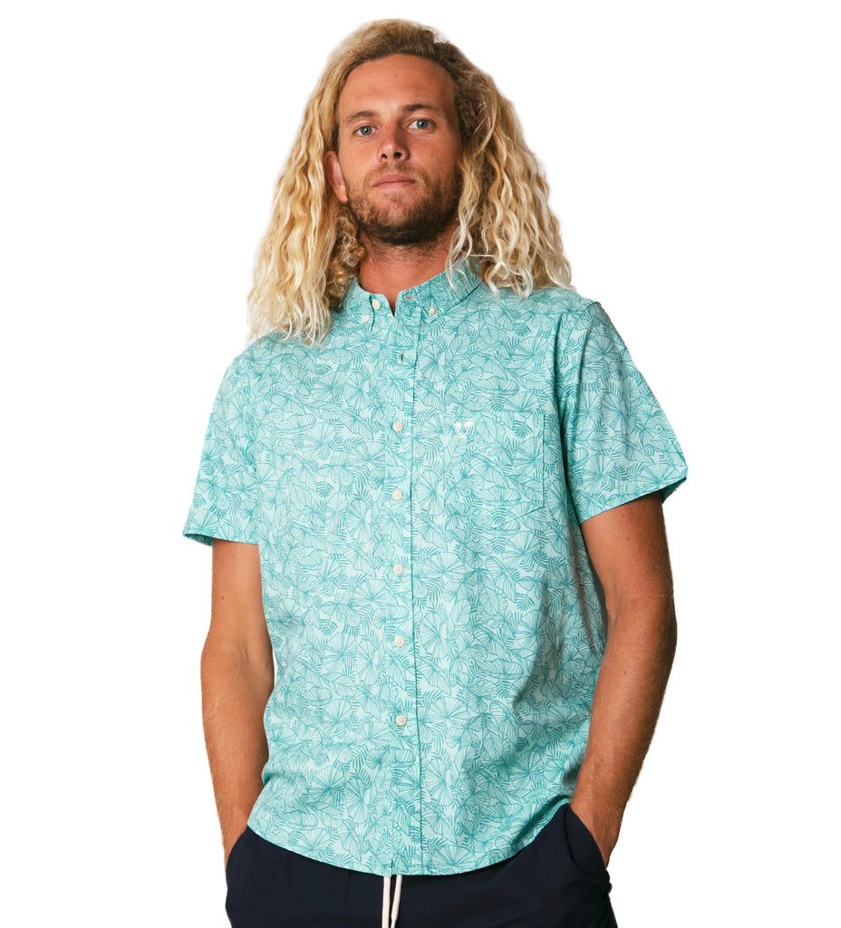 Carter S/S Woven - Teal
