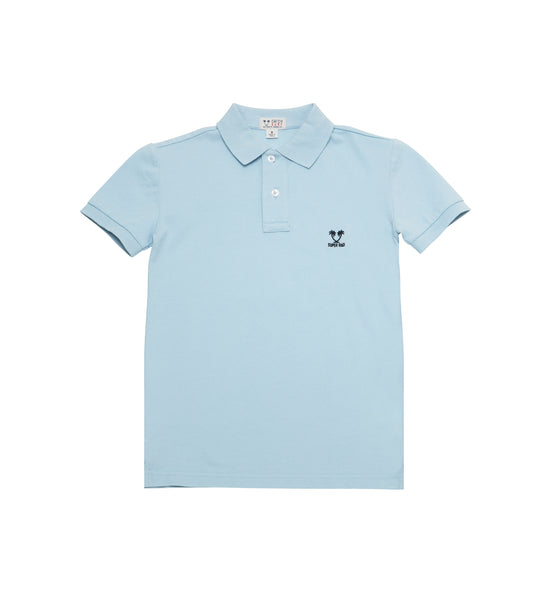Boy's Super Rad S/S Polo - Baby Blue