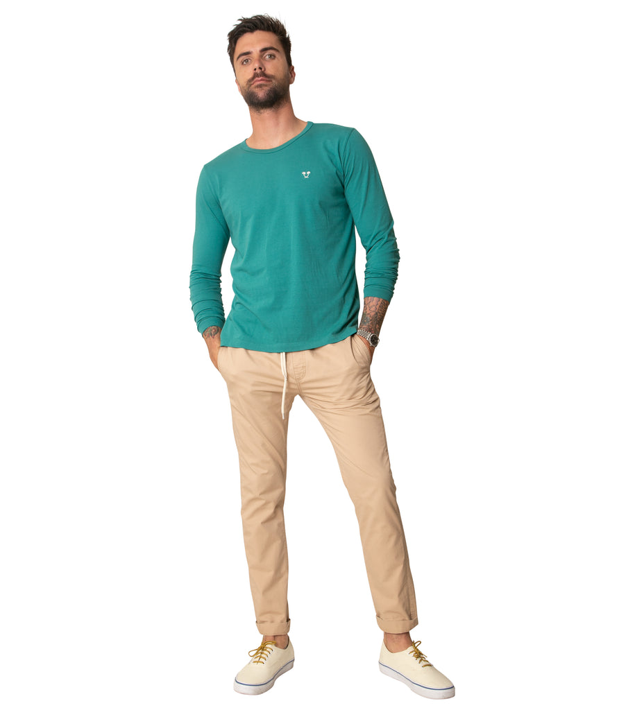 Heritage Top Shelf L/S Tee - Teal