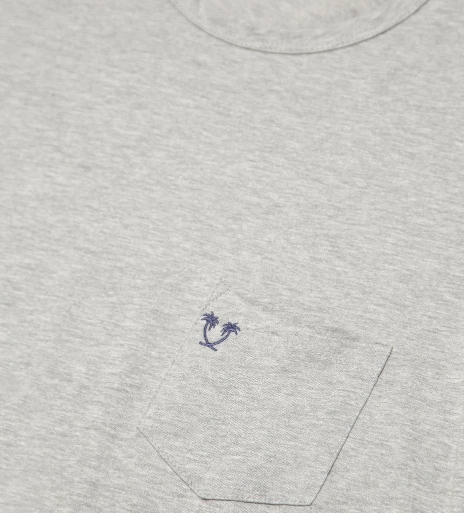 Heritage Top Shelf S/S Pocket Tee - Heather Grey