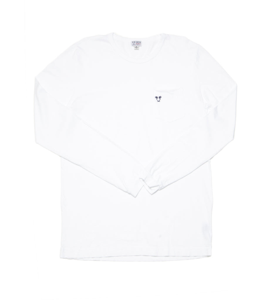 Heritage Top Shelf L/S Pocket Tee - White