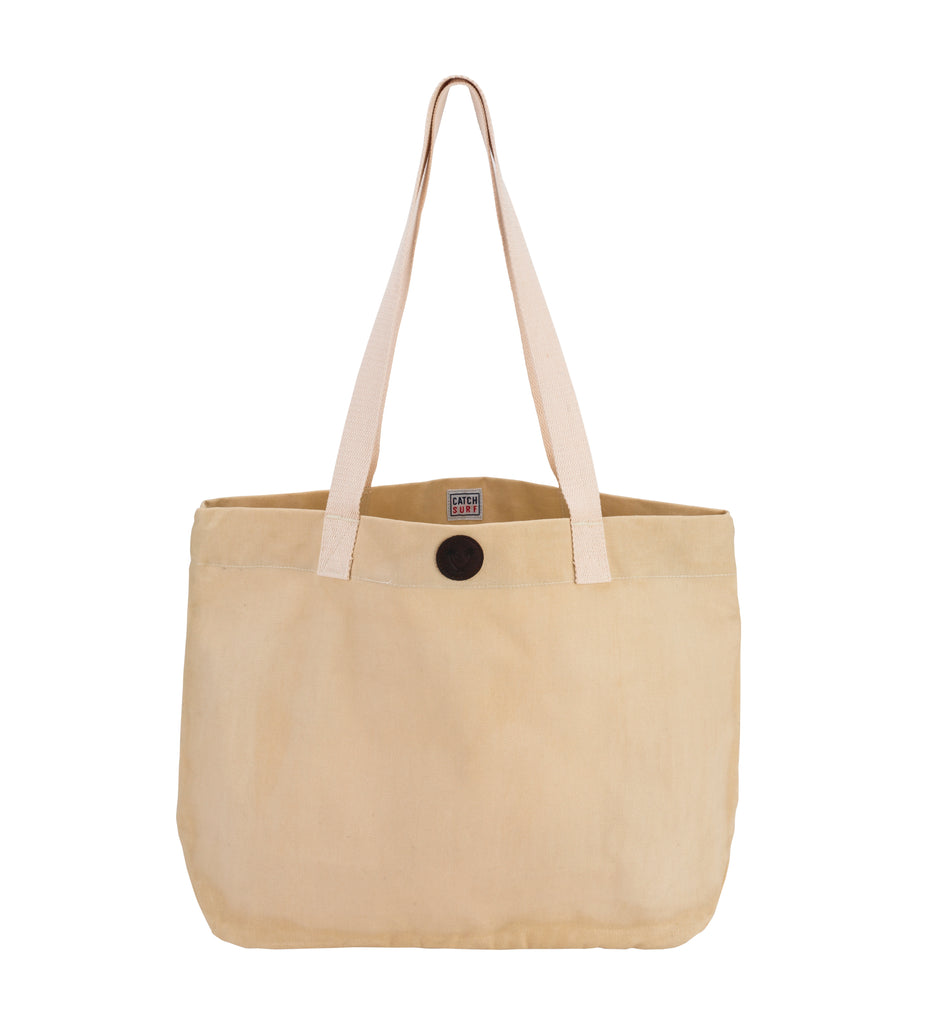 Catch Surf Waxed Canvas Tote // Khaki