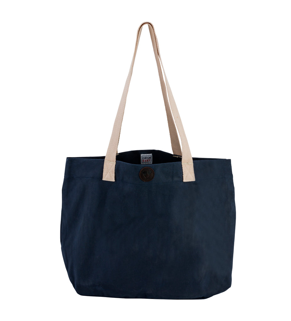 Catch Surf Waxed Canvas Tote // Navy