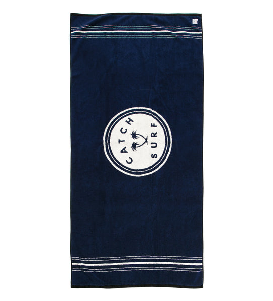 Stamp Beach Towel - Navy