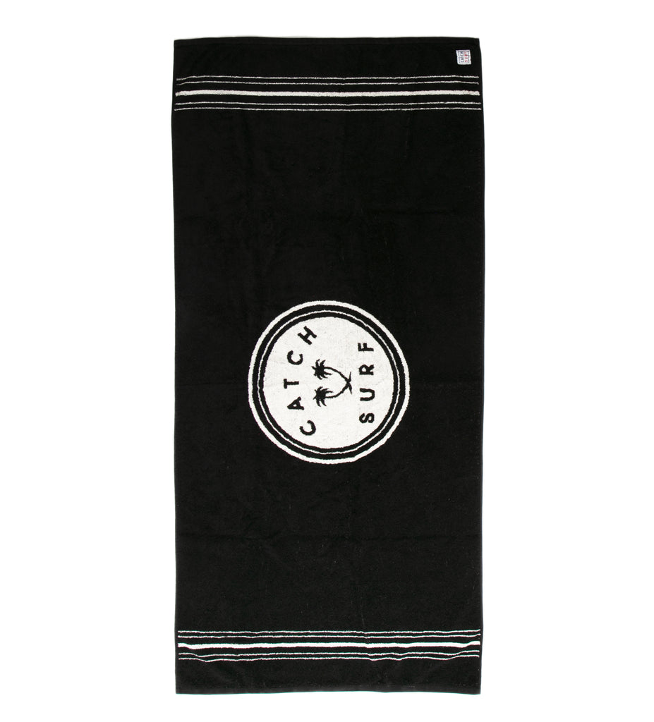Stamp Beach Towel - Black