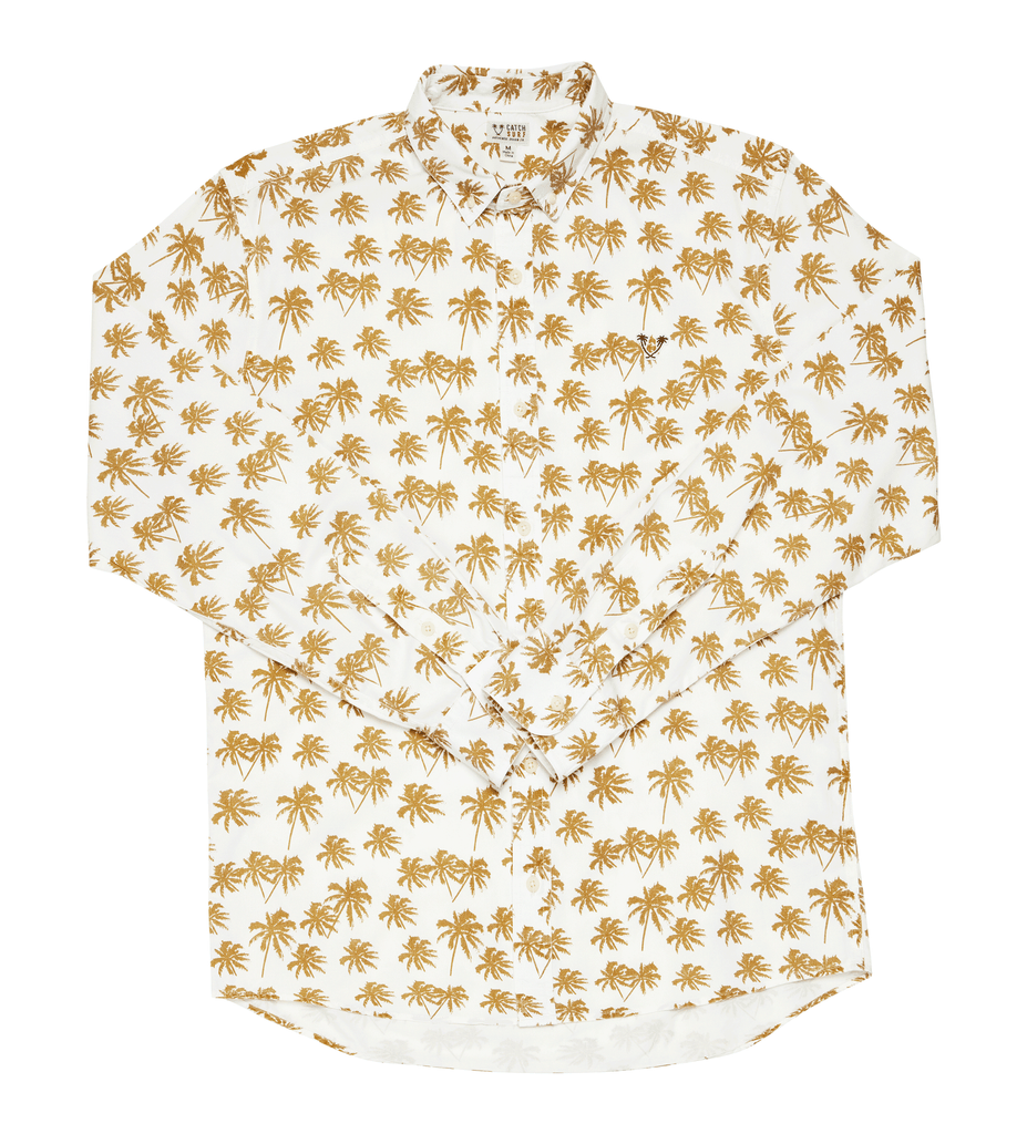 Randy L/S Woven - Golden Palms