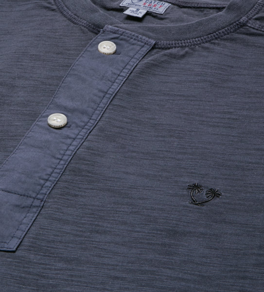 Sportsman L/S Henley - Airforce Blue