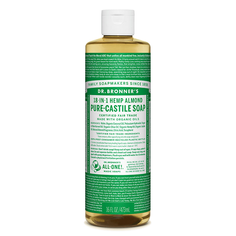 Almond Pure-Castile Liquid Soap, 16 oz/473ml
