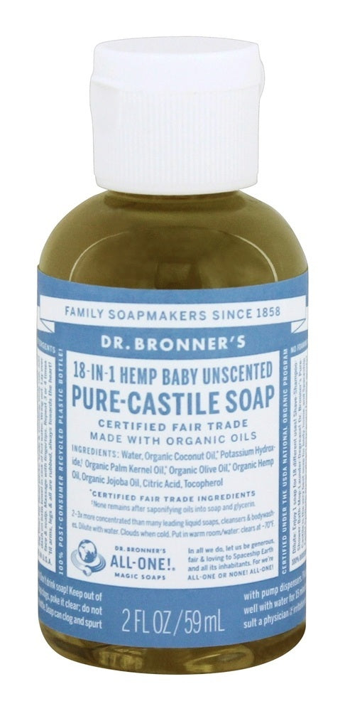 Baby-Unscented Pure-Castile Liquid, 2oz / 59ml