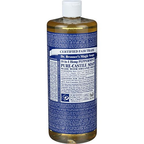 Peppermint Pure-Castile Liquid Soap, 32oz / 946ml