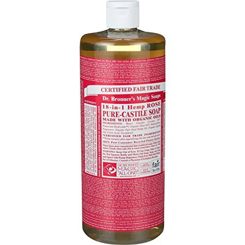 Rose Pure-Castile Liquid Soap, 32oz / 946ml