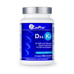 D3 & K2 Softgels, 120 softgels