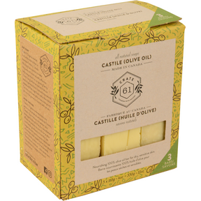 Castile Soap (100% Olive Oil), 3 Pack
