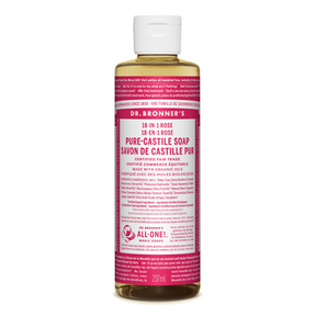 Rose Pure-Castile Liquid Soap, 8oz / 237 ml