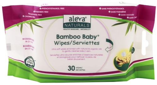 Bamboo Baby Travel Wipes 30 pk, 30 pk