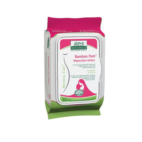 Bamboo Fem Wipes, 30 pk