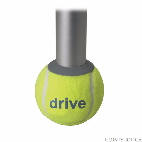 The Drive Medical Walker Rear Tennis Ball Glides provide a quiet, smooth and durable glide experience when used with a walker. The Tennis Ball Glides last longer than plastic glide caps and are easy and safe to install.