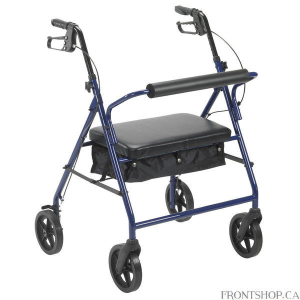 "When improving your daily mobility requires heavy duty strength and durability, the Bariatric Rollator from Drive offers a full slate of features and a 400 pound weight capacity. Along with its increased weight capacity, the Bariatric Rollator is extra-wide between the handles for more comfortable use. The 8"" wheels make it great for both indoors and outdoors and its large padded seat provides a comfortable resting spot when you're on the go. The Bariatric Rollator even includes a convenient basket for carr"