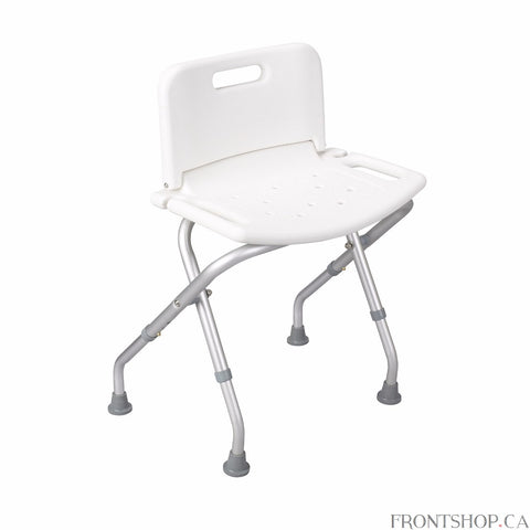 The deluxe folding bath bench from Drive Medical is built with you in mind. Great for everyday use or for the independent traveler. The seat and back are contoured for comfort providing extra support when seated but folds down flat without tools when not in use or on the go. The frame is lightweight but durable and constructed from corrosion-proof aluminum. Its angled legs provide additional stability, and drainage holes in the seat reduce slipping to give you added peace of mind.