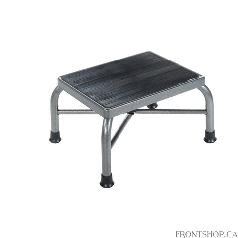 Safely and confidently reach higher items with this footstool. Its nonslip surface and nonskid feet ensure secure use, great for items in upper cabinets or tall shelves. Plus, the stool's extra strong steel cross brace construction can accommodate users up to 500 lbs.
