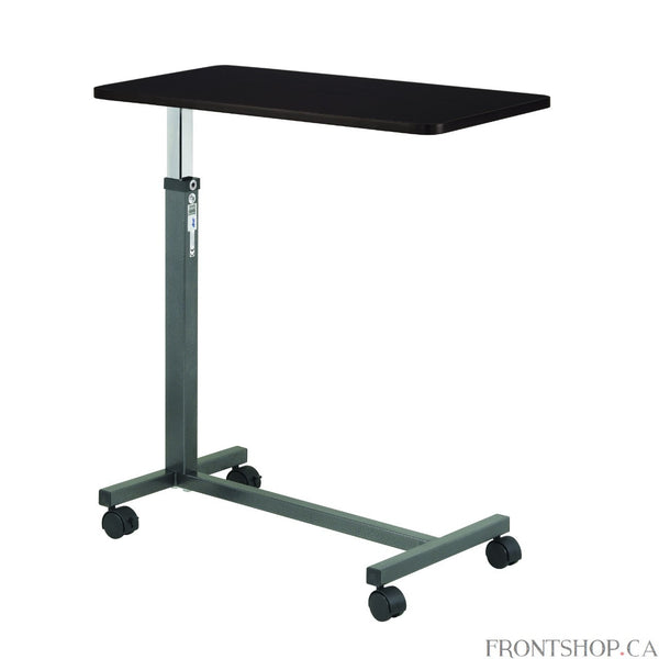 Enormous Value, Dependability and Quality The Non-Tilt Over bed Table from Drive Medical represents everything you want in a traditional and sturdy mobile bed table.You'll fully appreciate the enormous support and utility this table offers you, because being bedridden no longer needs to be an unfortunate situation that incapacitates, or prevents you from carrying out business or meaningful personal activities that add a measure of independence and achievement to your daily life.The table rises and lowers ea