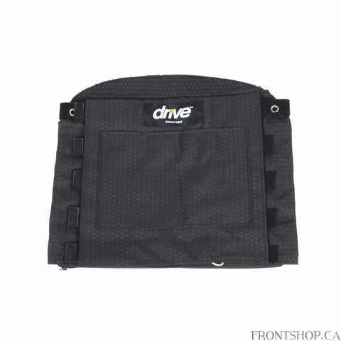 Enhance the comfort of your wheelchair with a comfortable, adjustable back cushion from Drive Medical. The thick, high density foam pad provides you with excellent pressure distribution while the adjustable tension lets you tailor the feel of the back to your ideal comfort. And the cushion's lumbar support ensures even greater comfort. It's designed to fit easily and securely onto the wheelchair's canes for the ultimate in strength, stability, and safety.