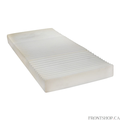 The Drive Medical Therapeutic 5 Zone Support Mattress is a deluxe, horizontal, cross-cut, 5 zoned foam mattress which provides comfort, support and pressure redistribution. It comes with a best in class, 2-way stretch cover that reduces friction and shear, and is water resistant and vapor permeable, ensuring user comfort.