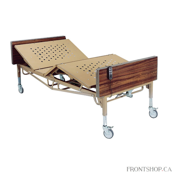 "Thanks to a heavy-duty steel frame and large sleep surface, this electric bariatric bed by Drive Medical guarantees strength and safety. This sturdy product can withstand a weight capacity of up to 600 pounds and features a 42"" sleep surface that is larger than a conventional bed. The hand control included with this fully electric bed provides multiple bed positions, with a split-pan design that operates smoothly and quietly, adjusting your patient into proper position with little fuss. A manual crank is ev"