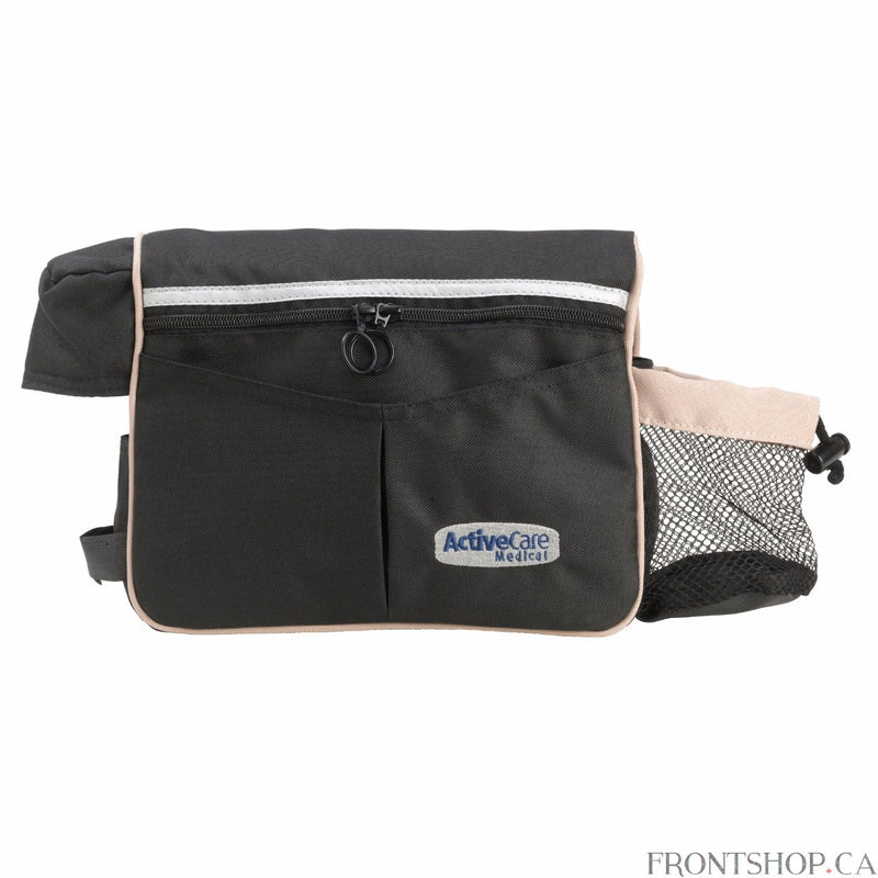 The Power Wheelchair Armrest Bag is convenient bag that fits right over your power scooter or wheelchair's armrest. The top of the bag provides additional padding where your arm would rest, making it feel like nothing is there. This four-pocket Power Wheelchair Armrest Bag is made of a durable, easy-to-clean nylon so you know it will last.