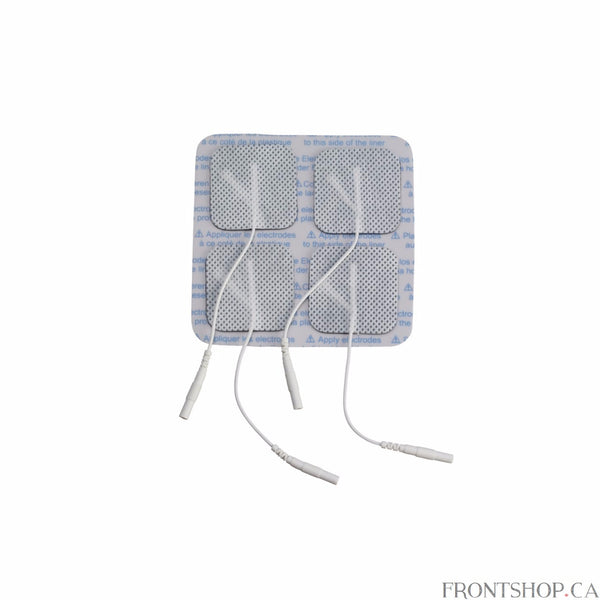 "The square 1.75"" x 1.75"" multitask pre-gelled electrodes by Drive Medical is designed to provide comfort while delivering an efficient treatment. All Drive electrodes are manufactured with American made multitask gel to ensure proper adhesion to the body. The package includes 4 electrodes."