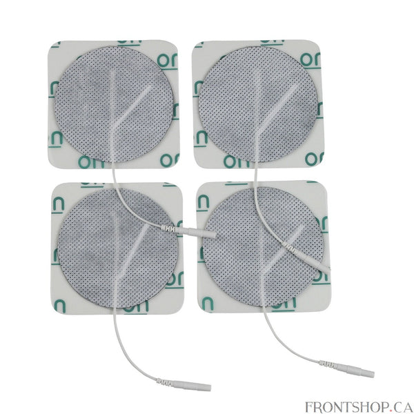 "The round multitask pre-gelled electrodes by Drive Medical is designed to provide comfort while delivering an efficient treatment. All Drive electrodes are manufactured with American made multitask gel to ensure proper adhesion to the body. The package includes 4 electrodes and is available in 3""."