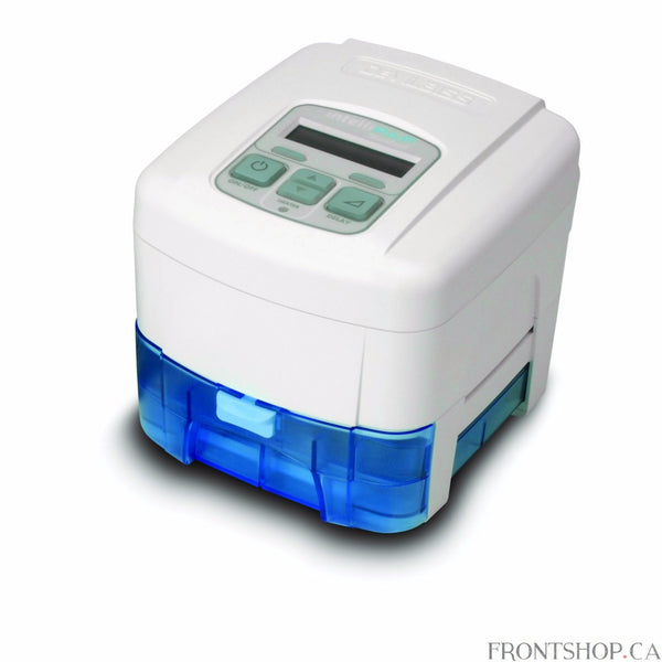 The IntelliPAP Standard Plus is a fixed pressure CPAP with a SmartFlex expiratory relief comfort feature designed for the effective treatment of Obstructive Sleep Apnea. Its robust ergonomic design and its small size make it the ideal travelling companion. Includes highly efficient and effective IntelliPAP Humidification System.
