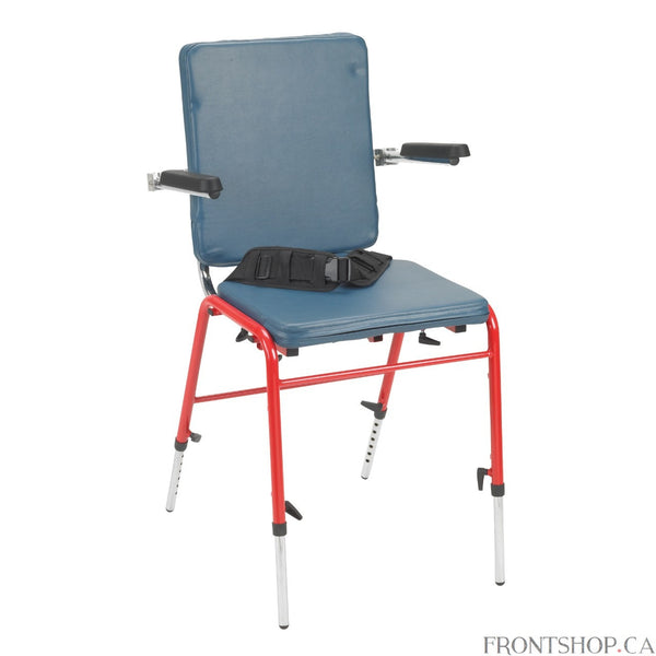 Designed to assure good seating posture, the First Class School Chair is comfortable, attractive and adjustable. It is ideal for physically challenged children with milt to moderate involvement for use in the classroom, clinic, or home. Its multiple adjustments and accessories meet the needs of each child as they grow and develop. Simplifies use for multiple children in schools and clinics.