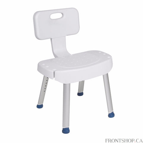 Slips and falls in the shower can be a real concern for people who have trouble standing or walking. Take these concerns out of your bathing experience with the safe and comfortable Shower Chair with Folding Back from Drive Medical. The Shower Chair provides a stable place for you to sit while showering|It's lightweight, assembled without tools, and has height adjustable legs with non-slip feet making it a simple and safe solution. Plus, the Shower Chair includes a comfortable folding backrest that makes th