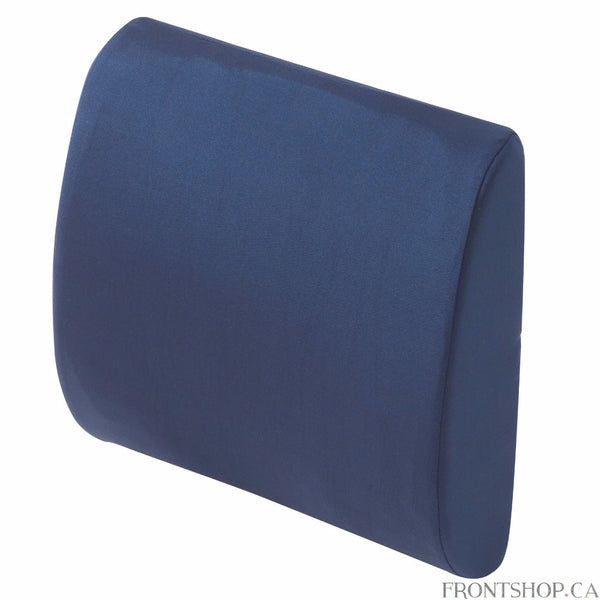 Support your back and minimize pain when sitting for prolonged periods with a lumbar cushion from Drive Medical. The cushion's design promotes proper posture at home, in the office or even on the road in the car. The cushion comes compressed in a unique compact package and expands to full size when opened. The cushion's cover is also removable and machine-washable for easy care while a handy elastic strap keeps the cushion securely in place.