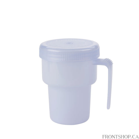 Drink hot or cold beverages with confidence with the Kennedy Cup from Drive Medical. The unique design eliminates spills, even if the cup is upside down! The easy to grip handle and screw-on top let you drink with confidence. Plus, the cup is completely dishwasher safe