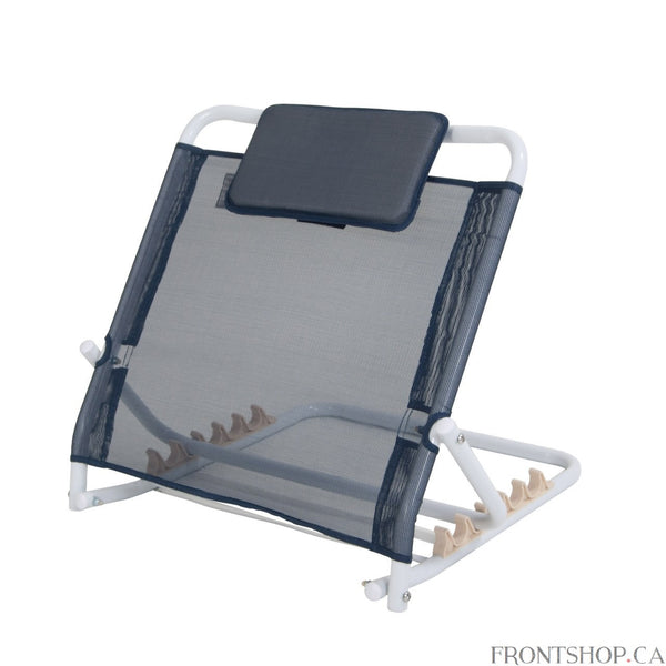 Position yourself at the perfect angle when in bed with this comfortable and adjustable back rest. Select from 5 different angles, from nearly flat to an upright, seated position. And the unit itself folds completely flat when not in use.