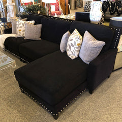 Custom Black Sectional Sofa