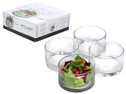 Clear Simplicity Round Bowls set/4
