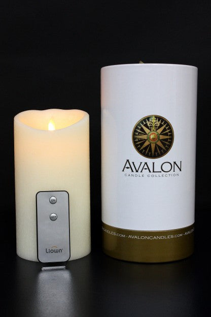 "Avalon Ivory 7"" Candle w/ remote"