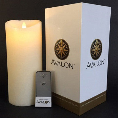 "Avalon Ivory 9"" Candle w/ remote"