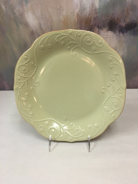 Lenox French Perle Green Dinner Plate