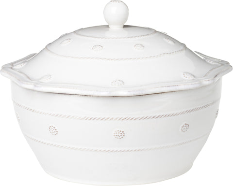 "Juliska Berry & Thread Whitwash 9.5"" Covered Casserole"