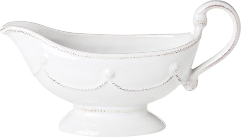 Juliskas Berry & Thread Whitewash Sauce Boat