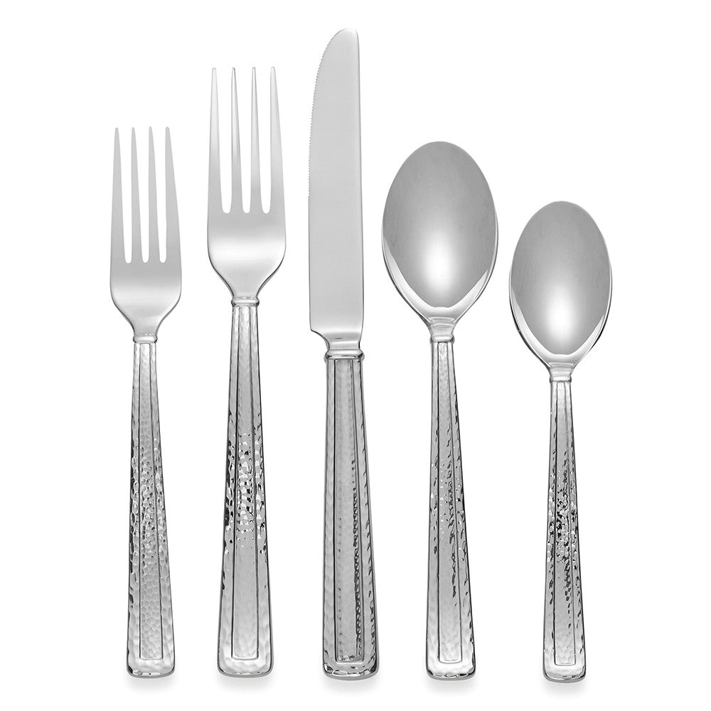 Hammertone 5-Piece Flatware Set