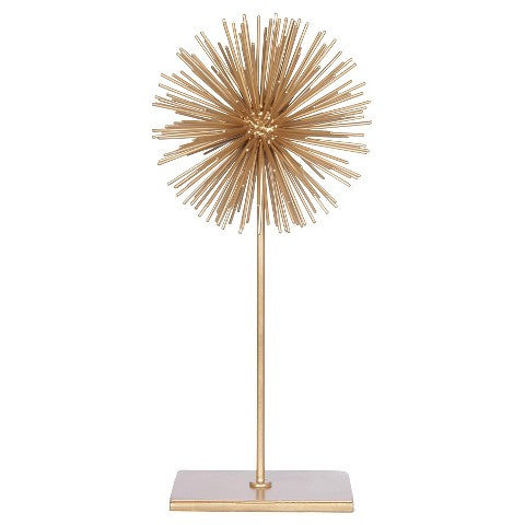 7x16 Decorative Gold Ball on Stand