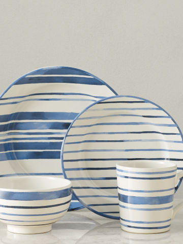Cote d'Azur Stripe 4 Piece Setting